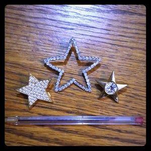 3 STAR single earrings